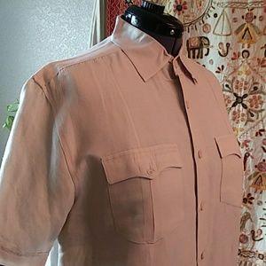 Cubavera Guayabera Ramie Rayon Short Sleeve Shirt